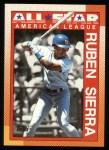 1990 Topps #390   -  Ruben Sierra All-Star Front Thumbnail
