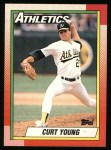 1990 Topps #328  Curt Young  Front Thumbnail