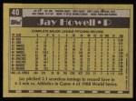 1990 Topps #40  Jay Howell  Back Thumbnail