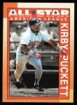 1990 Topps #391   -  Kirby Puckett All-Star Front Thumbnail