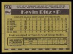 1990 Topps #237  Kevin Ritz  Back Thumbnail