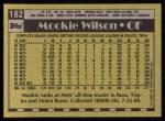 1990 Topps #182  Mookie Wilson  Back Thumbnail