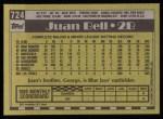 1990 Topps #724  Juan Bell  Back Thumbnail