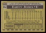 1990 Topps #243  Barry Jones  Back Thumbnail