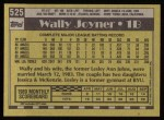 1990 Topps #525  Wally Joyner  Back Thumbnail
