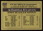 1990 Topps #171  Russ Nixon  Back Thumbnail