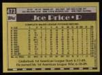 1990 Topps #473  Joe Price  Back Thumbnail