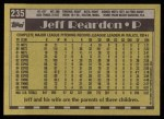 1990 Topps #235  Jeff Reardon  Back Thumbnail