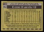 1990 Topps #738  Gene Harris  Back Thumbnail