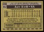 1990 Topps #523  Jay Bell  Back Thumbnail