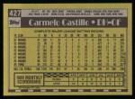 1990 Topps #427  Carmen Castillo  Back Thumbnail