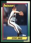 1990 Topps #428  Steve Davis  Front Thumbnail