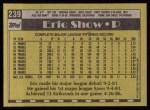 1990 Topps #239  Eric Show  Back Thumbnail