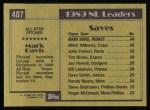 1990 Topps #407   -  Mark Davis All-Star Back Thumbnail
