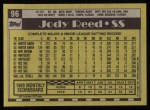 1990 Topps #96  Jody Reed  Back Thumbnail