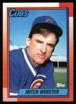 1990 Topps #502  Mitch Webster  Front Thumbnail