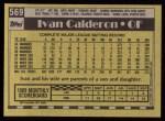 1990 Topps #569  Ivan Calderon  Back Thumbnail