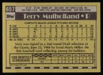 1990 Topps #657  Terry Mulholland  Back Thumbnail