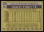 1990 Topps #304  Marty Clary  Back Thumbnail