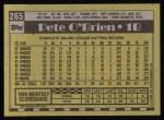 1990 Topps #265  Pete O'Brien  Back Thumbnail
