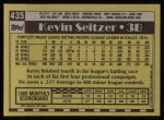 1990 Topps #435  Kevin Seitzer  Back Thumbnail