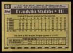 1990 Topps #56  Franklin Stubbs  Back Thumbnail