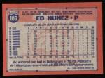 1991 Topps #106  Ed Nunez  Back Thumbnail