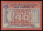 1991 Topps #621  Ted Power  Back Thumbnail