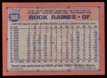 1991 Topps #360  Tim Raines  Back Thumbnail