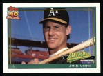1991 Topps #132  Jamie Quirk  Front Thumbnail