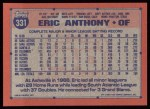 1991 Topps #331  Eric Anthony  Back Thumbnail