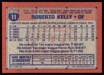 1991 Topps #11  Roberto Kelly  Back Thumbnail
