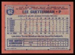 1991 Topps #62  Lee Guetterman  Back Thumbnail