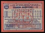 1991 Topps #188  Damon Berryhill  Back Thumbnail