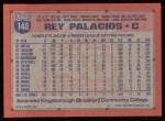 1991 Topps #148  Rey Palacios  Back Thumbnail