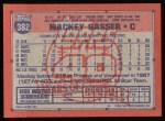 1991 Topps #382  Mackey Sasser  Back Thumbnail
