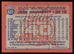 1991 Topps #622  Jack Daugherty  Back Thumbnail