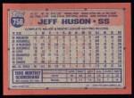 1991 Topps #756  Jeff Huson  Back Thumbnail