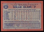 1991 Topps #191  Willie Blair  Back Thumbnail
