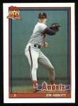 1991 Topps #285  Jim Abbott  Front Thumbnail