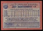1991 Topps #371  Jeff Montgomery  Back Thumbnail