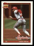 1991 Topps #130  Ozzie Smith  Front Thumbnail