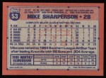 1991 Topps #53  Mike Sharperson  Back Thumbnail