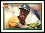 1991 Topps #380  Willie McGee  Front Thumbnail