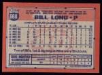 1991 Topps #668  Bill Long  Back Thumbnail