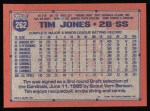 1991 Topps #262  Tim Jones  Back Thumbnail