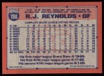 1991 Topps #198  R.J. Reynolds  Back Thumbnail