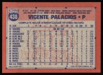 1991 Topps #438  Vicente Palacios  Back Thumbnail