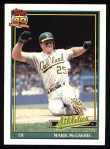 1991 Topps #270  Mark McGwire  Front Thumbnail