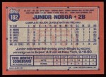 1991 Topps #182  Junior Noboa  Back Thumbnail